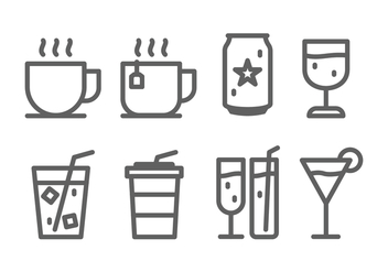 Drink Icon Set - vector #432145 gratis