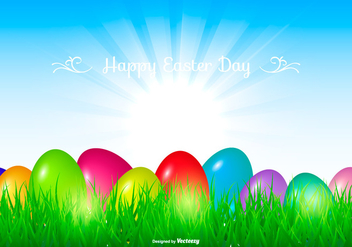 Beautiful Easter Background - vector gratuit #432155
