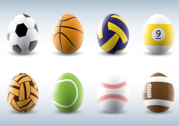 Sporty Easter Eggs Vectors - бесплатный vector #432175
