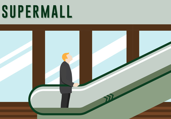 Free Escalator Vector lllustration - vector gratuit #432225