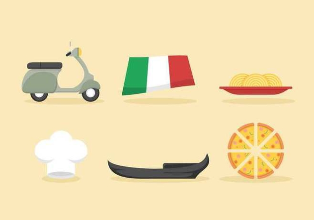 Free Iconic Italy Vectors - Free vector #432235