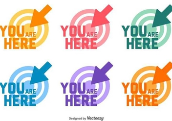 You Are Here Target Set Vector - vector gratuit #432245
