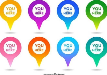 Vector You Are Here Map Pointer Icon Set - vector #432275 gratis