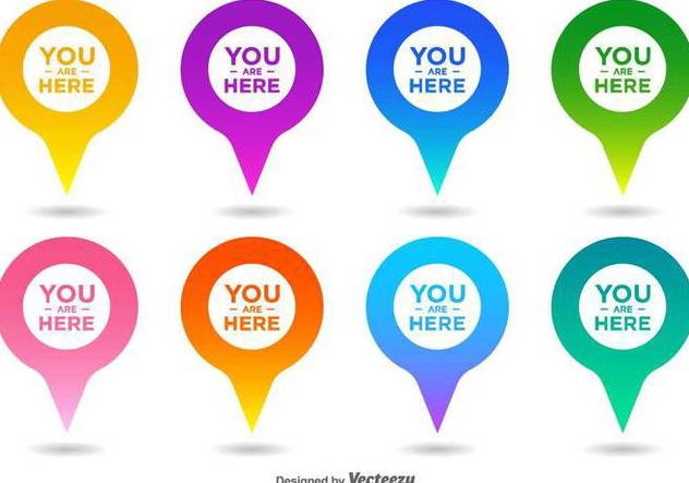 Vector You Are Here Map Pointer Icon Set - Free vector #432275