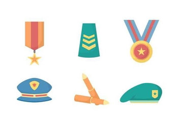 Free Elegant Military Element Vectors - Free vector #432285