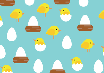 Easter Chicks Pattern - vector gratuit #432305