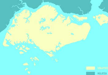 Singapore Map Vector - Kostenloses vector #432315