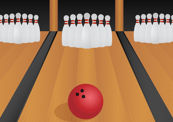 Free Bowling Lane Vector Illustration - Kostenloses vector #432335