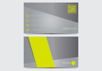 Stylish Business Card Template - vector gratuit #432355
