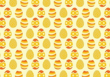 Yellow Easter Egg Pattern Background - Free vector #432415