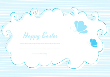 Cute Easter Card Template - vector gratuit #432425
