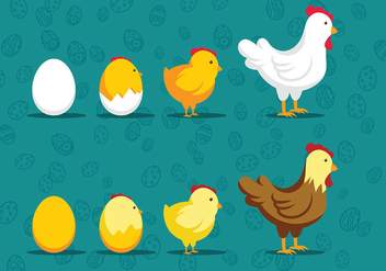 Easter Chick Icon Vectors - Kostenloses vector #432435