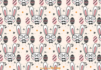 Doodle Hipster Easter Pattern - Free vector #432445