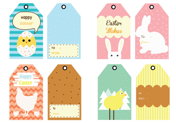 Easter Gift Tag Vector Pack - бесплатный vector #432455