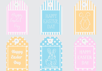 Easter Gift Tags Collection - vector #432475 gratis