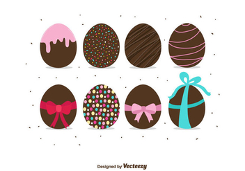 Chocolate Easter Eggs Vector - vector gratuit #432515