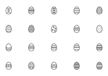 Liner Easter Eggs Vectors - бесплатный vector #432545