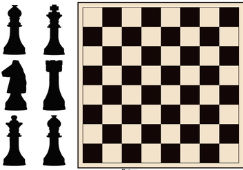 Chess Board and Figure Collection - Kostenloses vector #432565