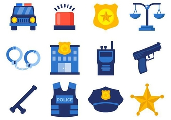 Free Police Icons Vector - Free vector #432575