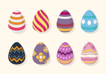 Flat Easter Egg Vectors - бесплатный vector #432635