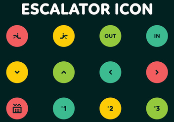 Escalator Codes Vector Icons - vector gratuit #432665
