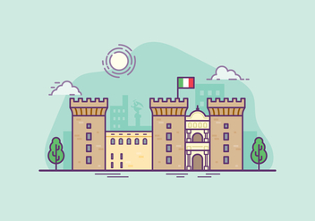 Castel Nouvo Illustration - vector #432685 gratis