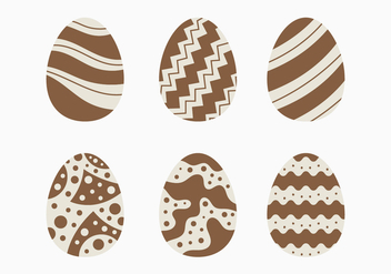 Decorative Chocolate Easter Egg Collection - Free vector #432695
