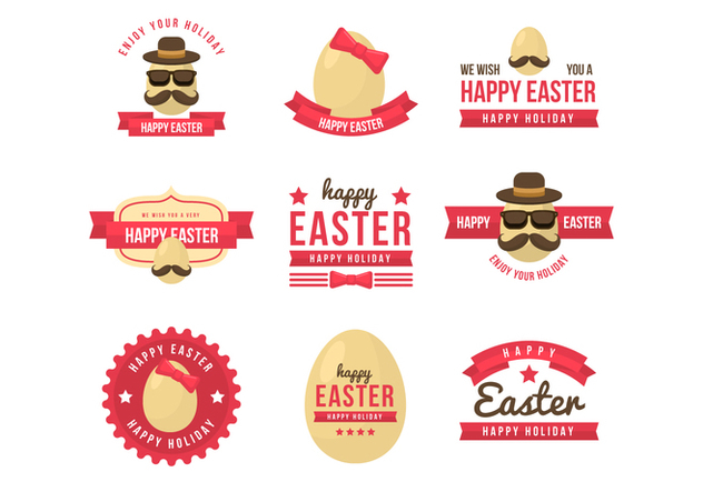 Free Hipster Easter Badge Vector Collections - Free vector #432705