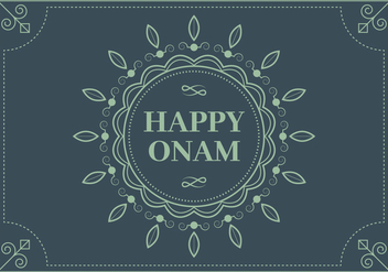 Blue Onam Background Vector - Free vector #432715