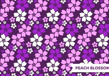 Purple Peach Blossom Pattern Vector - vector gratuit #432725