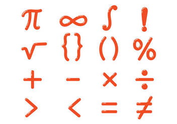 Shiny Math Symbols Vector - бесплатный vector #432745