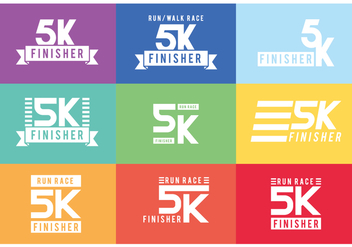 5K Graphics Labels - Free vector #432755