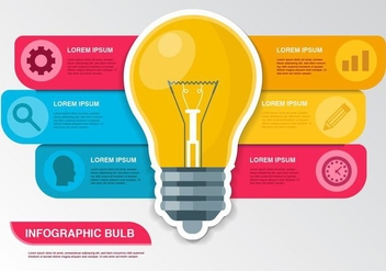 Free Bulb Idea Infographic Vector - бесплатный vector #432785