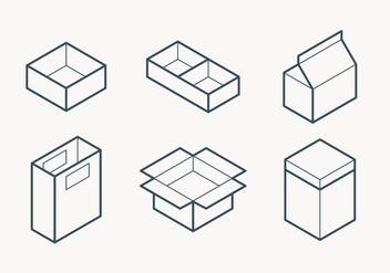 Packaging Outline Icon - vector #432795 gratis
