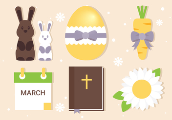 Free Easter Elements Collection - vector gratuit #432825
