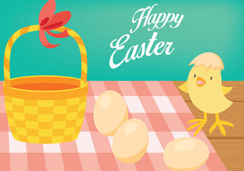 Easter Chick Vector Background - Kostenloses vector #432865