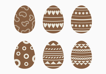 Dark Chocolate Easter Egg Collection - бесплатный vector #432875