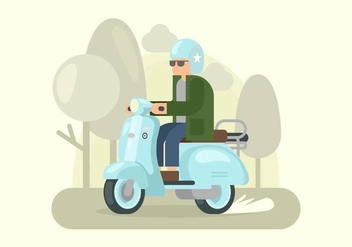 Robin Egg Blue Lambretta Illustration - Free vector #432885