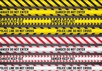 Police and Danger Line Vectors - Kostenloses vector #432995