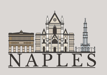 Linear Napoli Landmark Vector Illustration - бесплатный vector #433045