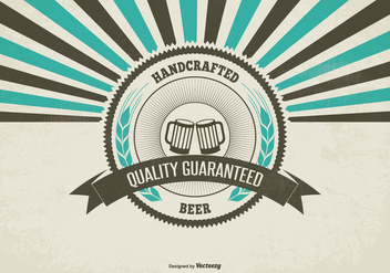 Retro Promotional Craft Beer Illustration - Free vector #433065