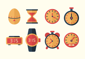 Free Time Vector Icons - vector gratuit #433095