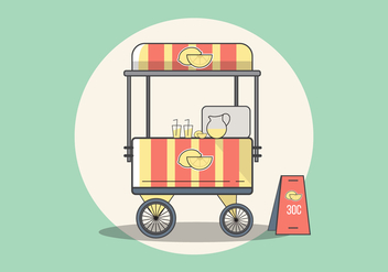 Lemonade Stand Vector - бесплатный vector #433105