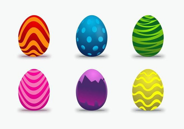 Colorful Easter Egg Vector - vector #433165 gratis