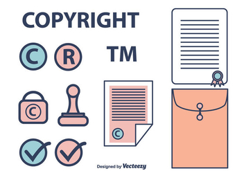 Copyright Icons Set - Free vector #433185