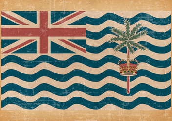 British Indian Ocean Territory Grunge Flag - бесплатный vector #433215