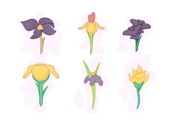 Free Beautiful Iris Flower Vector - Free vector #433275