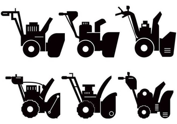 Snow Blower silhouette vector - Free vector #433285