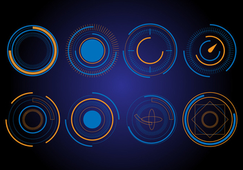 Free HUD circle vector elements - vector #433415 gratis