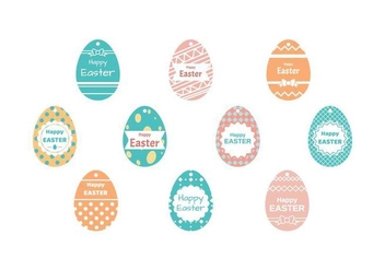Free Easter Gift Tag Vector - Free vector #433425